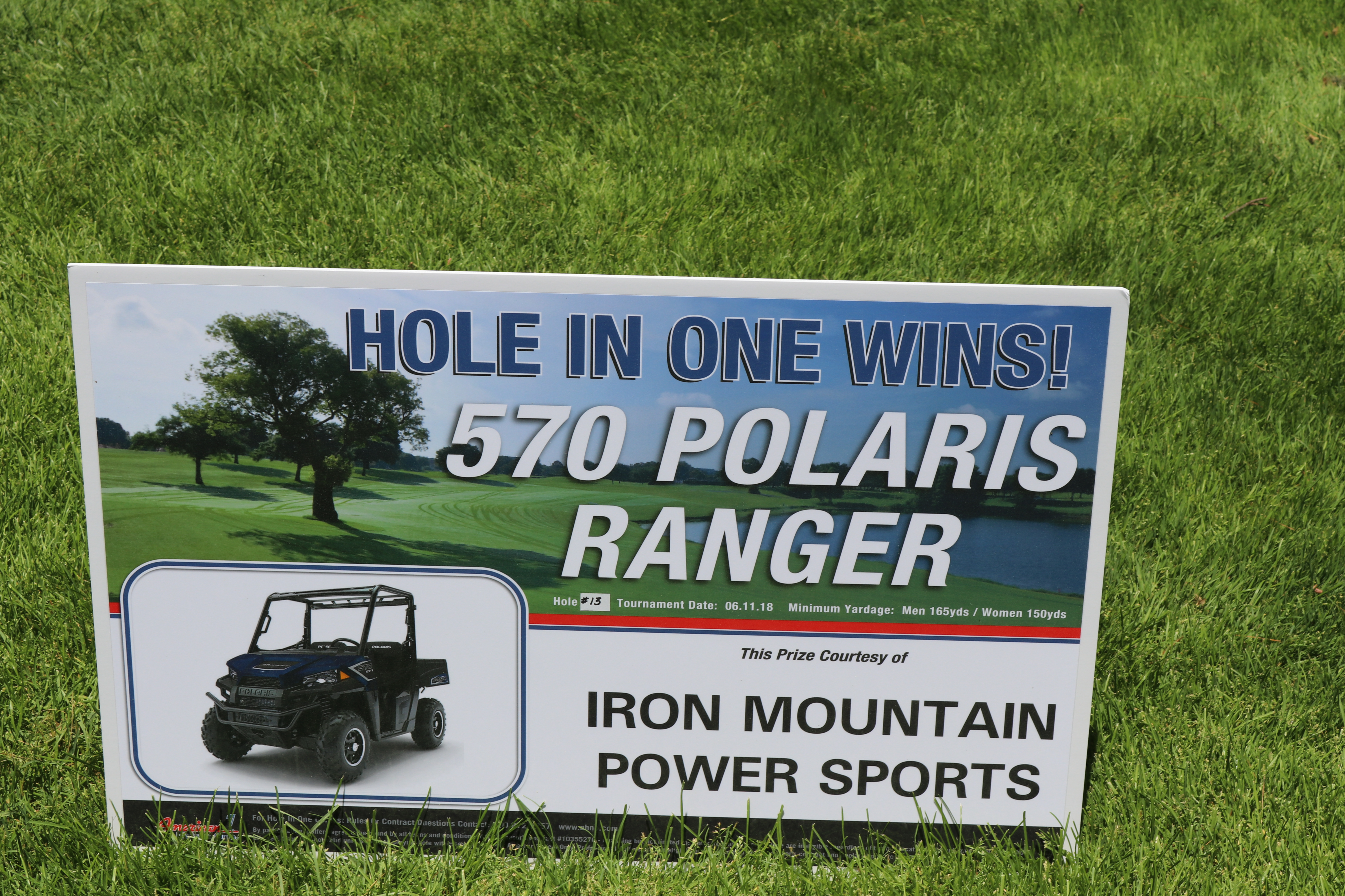 Signage Iron Mountain Power Sports