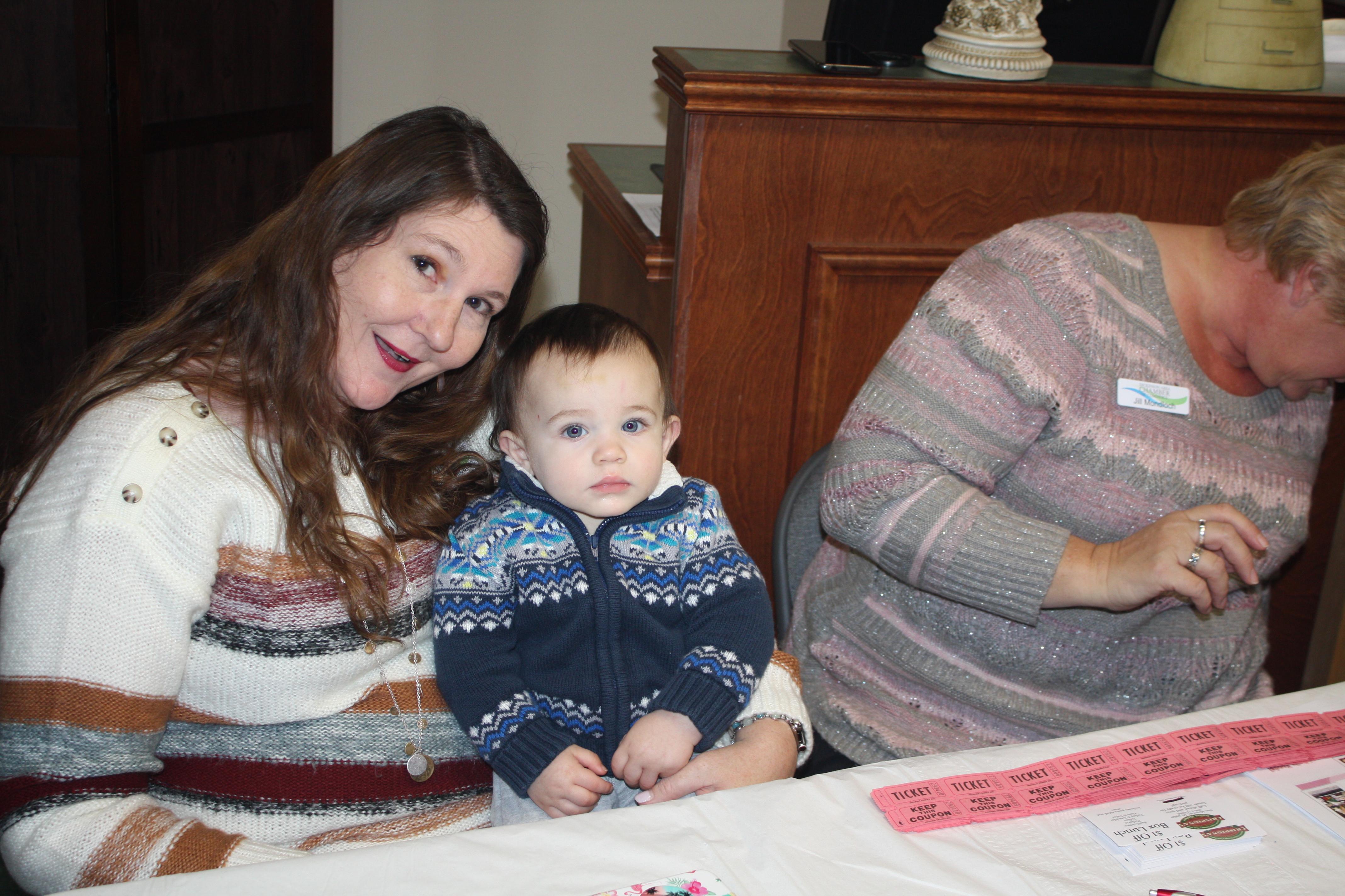 Kristine and baby